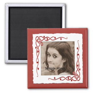 Custom Frame Instagram Photo Create Your Own 2 Inch Square Magnet