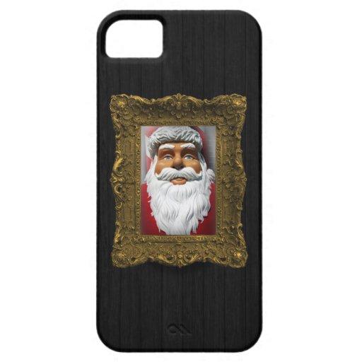 Custom Framed Wall Portrait Darkwood iPhone 5 Case