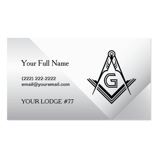 Custom freemason business cards masonic card zazzle for Freemason business cards