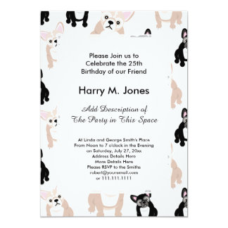 French Bulldog Invitations Announcements Zazzle - Birthday invitation cards in french