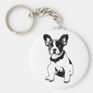 Custom French Bulldog Puppy Pick Your Color Keychain