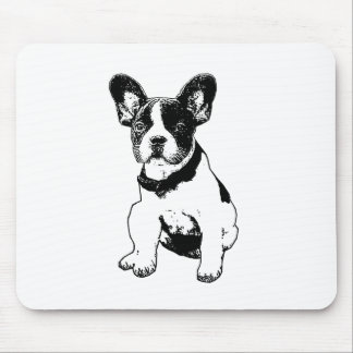 Custom French Bulldog Puppy Pick Your Color Mouse Pad