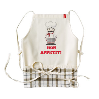 Custom French Chef Zazzle HEART Apron