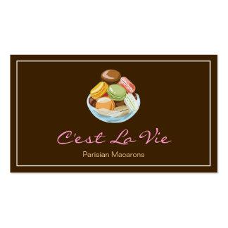 Custom French Parisian Macarons Dessert Store Business Card