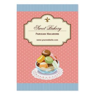 Custom French Parisian Macarons Dessert Store Large Business Card