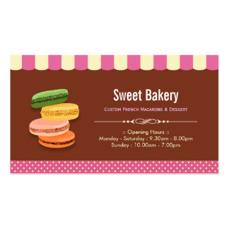 Custom French Parisian Macarons Macaroon Store Double-Sided Standard Business Cards (Pack Of 100)