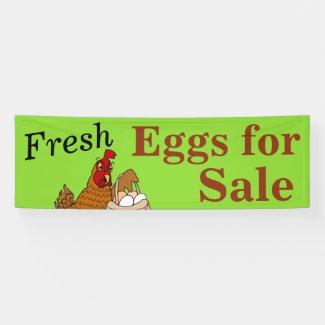 Custom Fresh Eggs for Sale Banner Customizable