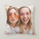 Custom Friendship Chic Photo Best Friends Besties Throw Pillow