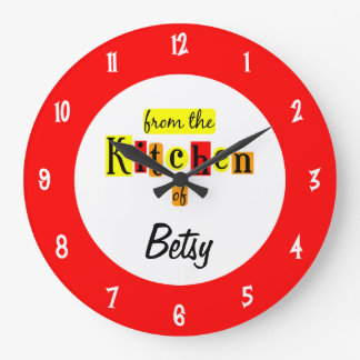 Custom From the Kitchen Of Retro Red Clock