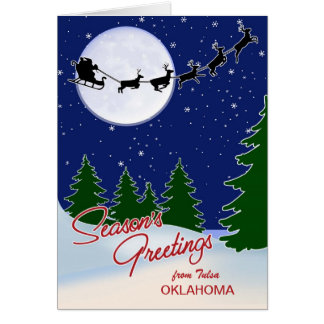 Custom-from Your City, State Seasons Greetings Card