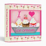 Custom Frozen Desserts Recipe / Photo Binder