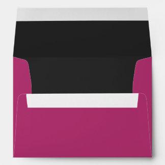 Custom Fuchsia & Black Envelope w/ Return Address Envelope