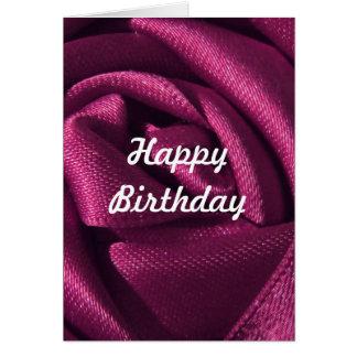 Custom Fuchsia Rose Birthday Card
