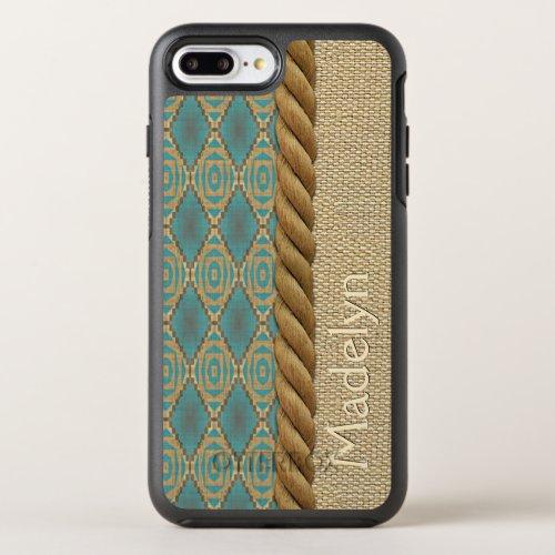 Custom Fun Ethnic Turquoise Brown Mosaic Pattern OtterBox Symmetry iPhone 8 Plus7 Plus Case