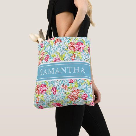 Custom Funky Summer Colors Paint Splatter Pattern Tote Bag