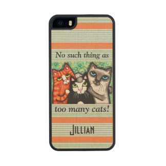 Custom Funny Cat Lover's iPhone 6 Wood Case Carved® Maple iPhone 5 Slim Case