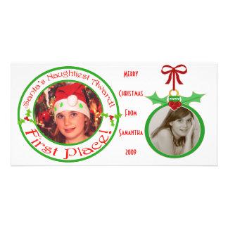 Custom Funny Children's Christmas Photo Card
