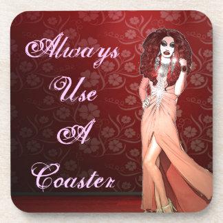 Custom Funny Drag Queen Drink Coaster