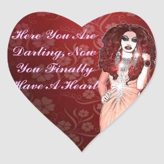 Custom Funny Drag Queen Heart Sticker