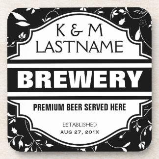 Custom Funny Home Brewer Beer Sign Drink Coaster