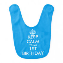 Custom funny Keep calm baby bibs for boy or girl
