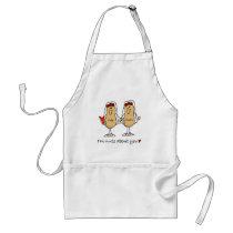Custom Funny Lesbian Wedding Kitchen Apron