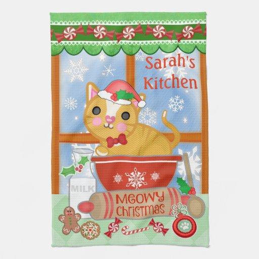 Cat Design Kitchen Towels