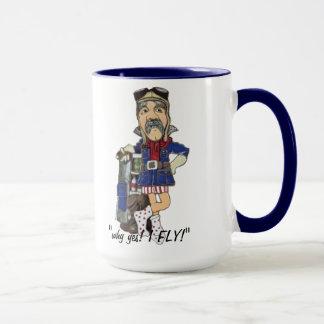 Custom Funny Pilot Old Timey Flying Ace - Mug