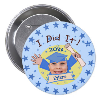Custom Funny School Boy's Graduation Button