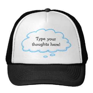 Custom Funny Thought Bubble Cap Template Trucker Hat
