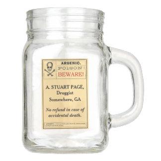 Custom Funny Vintage Arsenic Poison Label 12 oz. Mason Jar