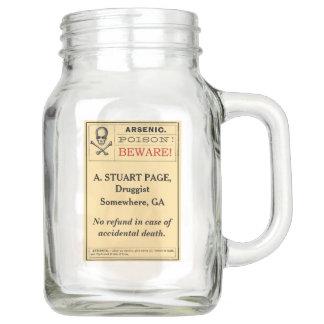 Custom Funny Vintage Arsenic Poison Label 20 oz. Mason Jar