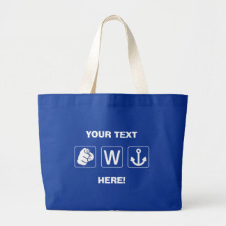 Custom Funny You W Anchor Tote Canvass Bag
