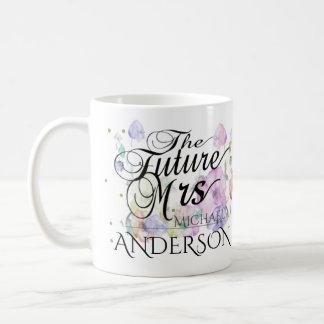 Custom Future Mrs Calligraphy Coffee Mug