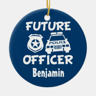 Custom Future Officer Baby boy Christmas ornament
