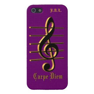 Custom G cleff music Carpe Diem iPhone case