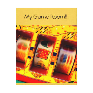 custom Game room! Canvas print!! put your own text Canvas Print