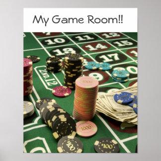 custom Game Room Poster!! Poster
