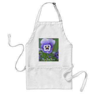 Custom Garden Pansies Gift Apron