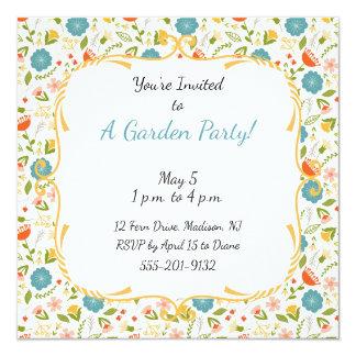 Custom Garden Party Flowered Invitation