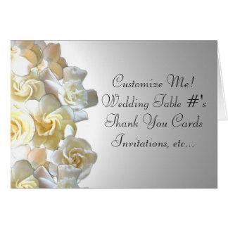 Custom gardenia flower notecards stationery note card