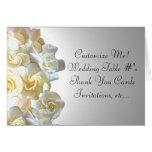 Custom gardenia flower notecards cards