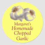 Custom Garlic and Cloves Canning Sticker