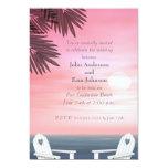 "Custom Gay Beach Wedding Invitations 5"" X 7"" Invitation Card"