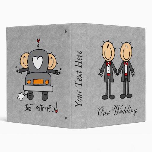 Custom Gay Marriage Wedding Album Vinyl Binder