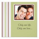 "Custom Gay Photo Wedding Invitation 5.25"" Square Invitation Card"
