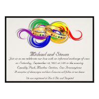 Lesbian commitment ceremony invitations announcements zazzle custom gay wedding invitations non formal stopboris Gallery