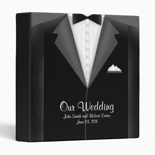 Custom Gay Wedding Photo Album Vinyl Binders