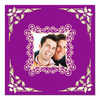 Custom Gay Wedding Photo Invitation