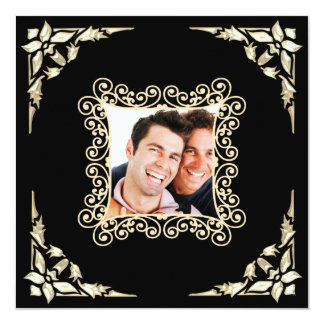 Custom Gay Wedding Photo Invitation